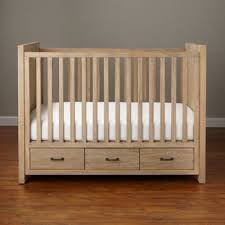 keepsake baby crib with storage whitewash the land of nod
