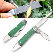 metal foldable tree seedling grafting cutter blade bark cutting