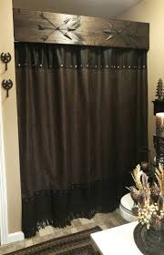 Western Bathroom Shower Curtains The Blakley House We A Rustic Western Look The Shower