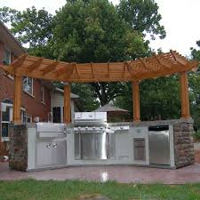 Backyard Brick Patio Design With 12 X 12 Pergola Grill Station by Best 25 Grill Island Ideas On Pinterest Outdoor Grill Island