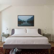 bedroom decor ideas for men modern grey and wood bed frame grey