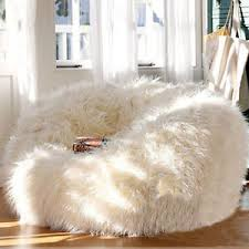 500l extra large faux fur bean bag fluffy shaggy plush beanbag