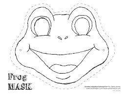 Printable Halloween Masks For Children by Frog Cut Out Template Frog Mask Colouring Pages Dyi Kids