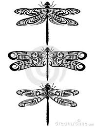 3 tribal dragonflies tattoo designs tattoos book 65 000