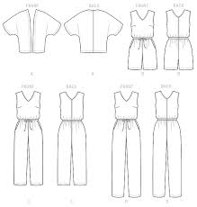 jumpsuit stitching pattern free jumpsuit sewing pattern image collections coloring pages adult