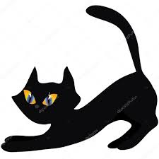 halloween cats background halloween black cat u2014 stock vector ollevita 1847687
