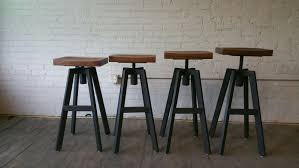 maple wood bar stool with backless curved seat furniture dark