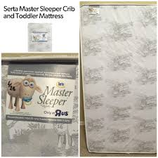 Serta Master Sleeper Crib And Toddler Mattress Find More Euc Serta Master Sleeper Crib Mattress Infant To