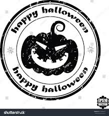 happy halloween black grunge rubber stamp stock vector 314456579