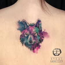 25 and mysterious watercolor wolf tattoos tattoozza