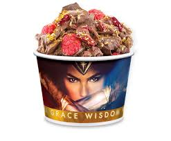 cold stone creamery wonder woman berry bold ice cream