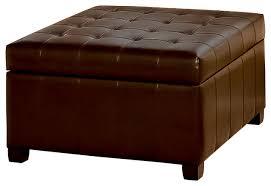 lyncorn leather storage ottoman coffee table contemporary