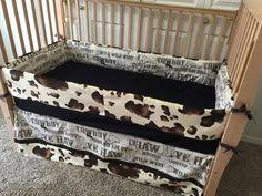 cow print western crib bedding set by sewcustomcorporation on etsy