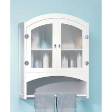 furniture bathroom with white wooden linen cabinet having shelf
