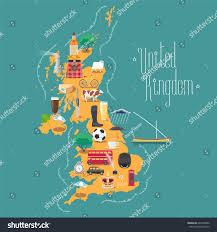Britain Map Map United Kingdom Great Britain Scotland Stock Vector 646332892