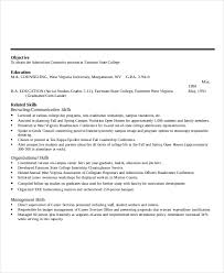 On Campus Job Resume Sample by Microsoft Work Resume Template 8 Free Word Pdf Documents