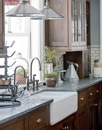 modern kitchen with cherry wood cabinets kitchen with wood cabinets