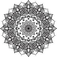 mandala lineart ornament vector material 11 vector ornament free