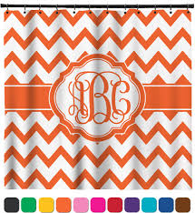 Shower Curtains Orange Chevron Shower Curtain Personalized Potty Concepts