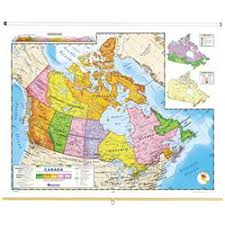 nystrom political relief map of canada