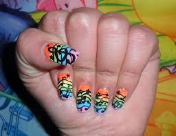 Music Nail Art Design Musical Rainbow Nails Tutorial Nail Art Note Musicali Su Sfondo