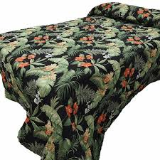 Bunk Bed Coverlets Black Tropical Bedspread Collection Paul S Home Fashions