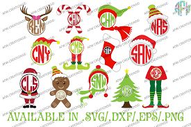 monogram christmas christmas monogram bundle svg dxf eps afw designs