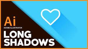 adobe illustrator long shadow tutorial youtube
