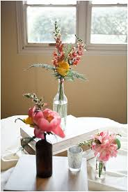Mismatched Vases Wedding Summer Farm Wedding The Budget Savvy Bride