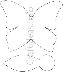 butterfly paper craft template for a butterfly