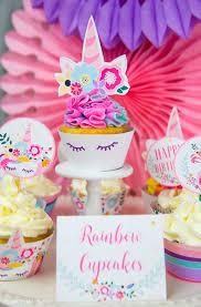 unicorn birthday party truly magical unicorn birthday party decorations diy press print