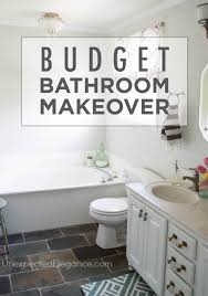 completed bathroom budget makeover and a sparkly light budget