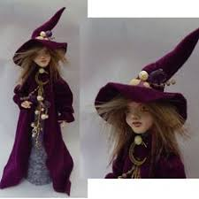 Halloween Witch Decorations For Trees by Halloween Witch Decoration Or Tree Topper Ooak Art Doll New