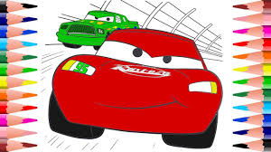 painting lightning mcqueen disney cars coloring pages coloring