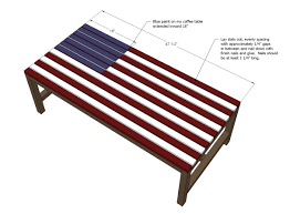 ana white build a flag inspired outdoor wood coffee table free