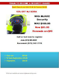 nj sora class mjake security services home