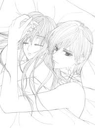 draw anime couple coloring pages 83 for your picture coloring page