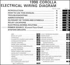 2004 corolla electrical wiring diagram 100 images electrical