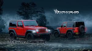 jeep wrangler 4 door blue 2018 jeep wrangler two door rendered with new cues