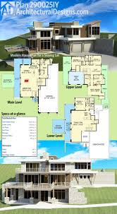 House Plans For Sloping Lots 178 Best Modern House Plans Images On Pinterest Modern House