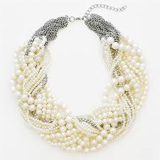 necklace pearls images Pearl twist necklace multi strand pearl statement necklace by jpg