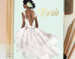 personalized wedding planner black hair fair skin wedding planner cover cover for