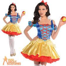 snow white costume ladies womens fairy tale fancy dress book