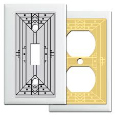 craftsman style light switches craftsman style wall plate covers in white kyle design