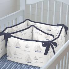 blue ocean sailboats crib bumper carousel designs