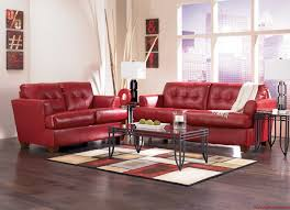 Top 4 Living Room Color by Living Room Attractive Ideas With Red Leather Sofa And Glass Table