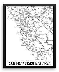 san francisco map framed wall san francisco bay area california city map cal31