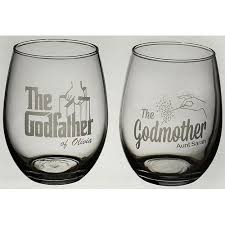 Godmother Wine Glass 38 Great Godparent Gift Ideas For Christening Wine Gift And