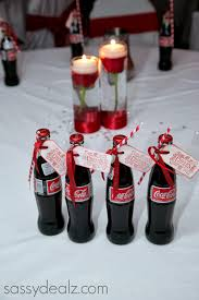 diy coca cola bottle wedding favor idea coca cola bottles red