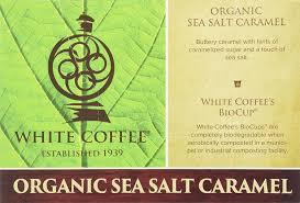 white coffee organic single serve coffee sea salt caramel 10